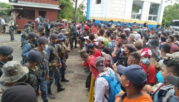 caravana de migrantes Guatemala