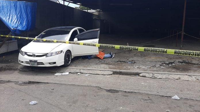 matan a taxista en el centro de sps