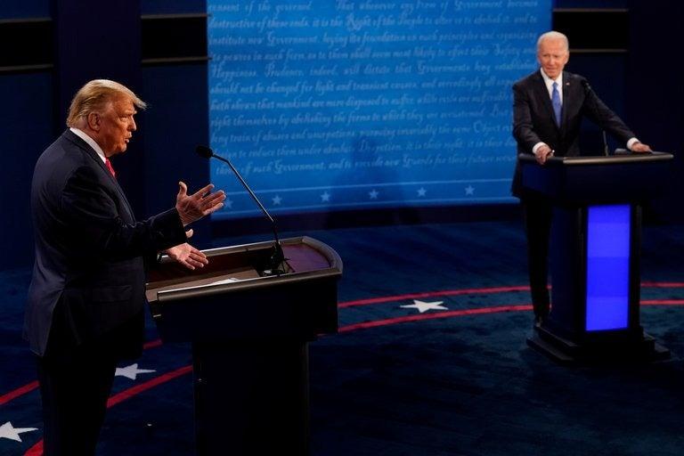 Acusaciones criminales y corrupción primaron en último debate entre Trump y Biden