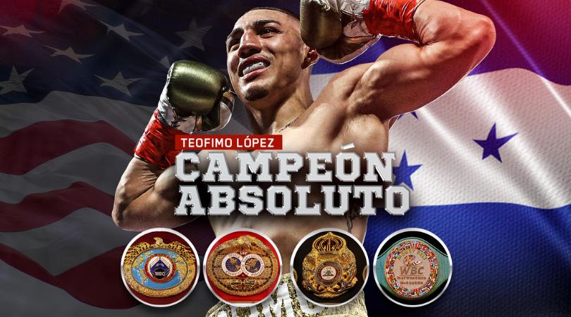 Así fue la noche histórica de Teófimo López, nuevo campeón unificado del peso ligero