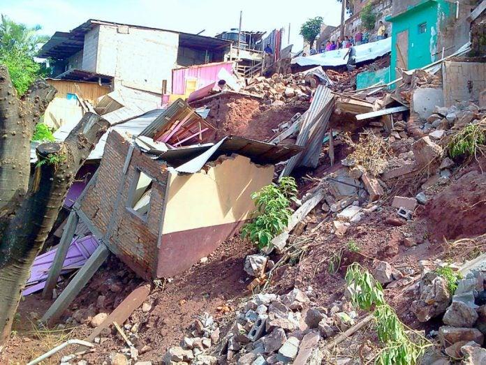 Derrumbes en Tegucigalpa