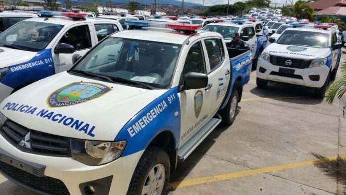 patrullas combustible Policía Honduras