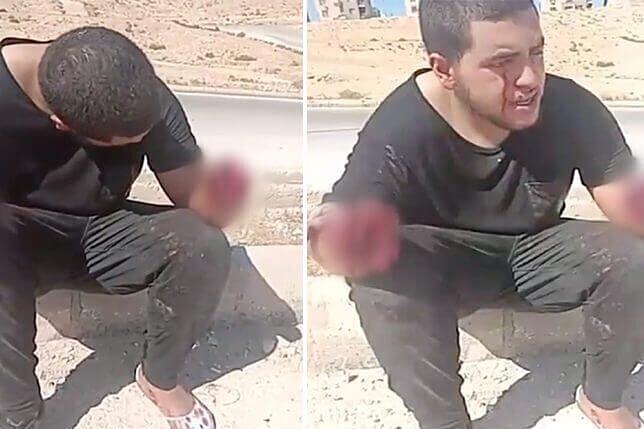 cortan manos a niño en jordania