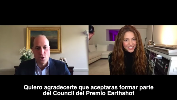 Shakira conversa príncipe Willian