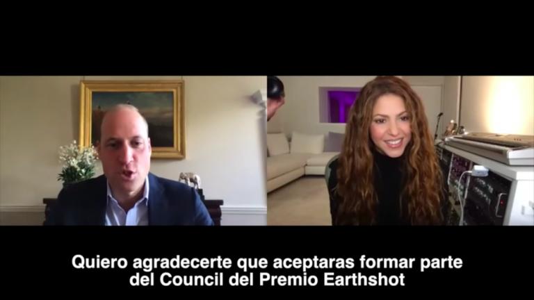 Shakira conversa con el príncipe Wiliam sobre cambio climático: lo invitó a Colombia