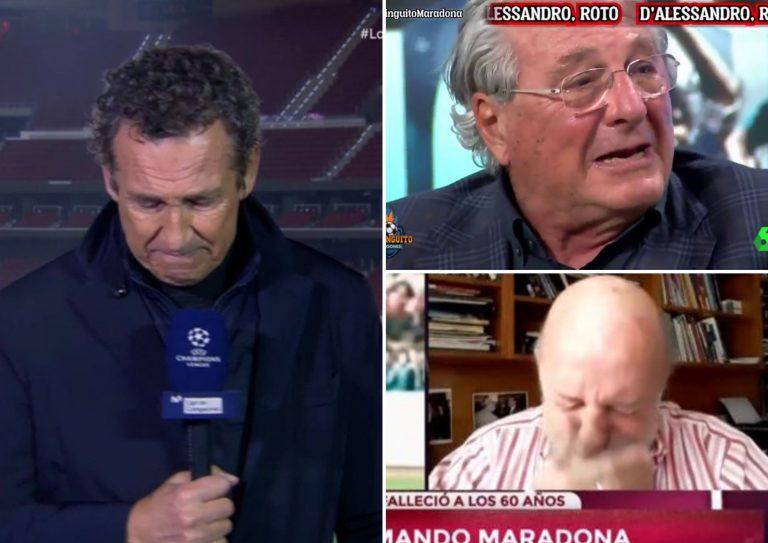Lágrimas y voces quebradas; así reaccionaron periodistas a la muerte de Maradona