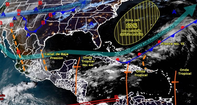 Nueva onda tropical Honduras