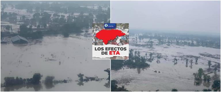 Devastador: tras ocho días de haber salido Eta, así lucen algunas zonas del Valle de Sula