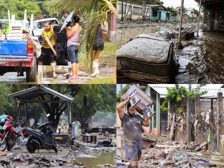 Entre el fango y la desolación, hondureños se levantan tras el paso de Eta e Iota