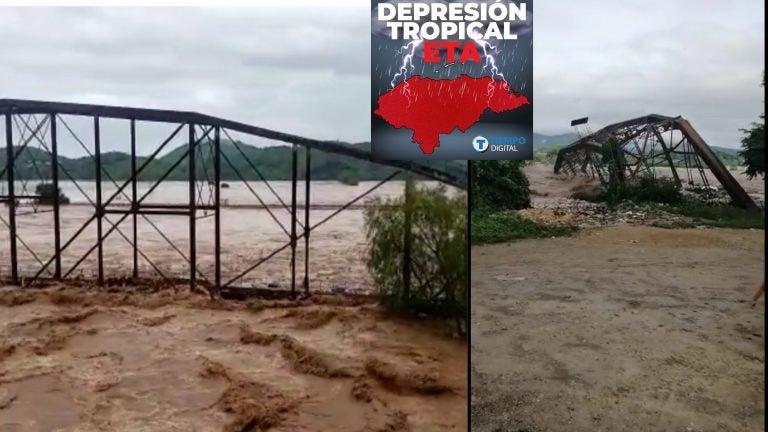 VÍDEO| Arrastrado por el río: adiós al emblemático «Puente Rieles» en Pimienta