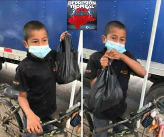 ¡Ejemplar! Oscar: el niño que de lo poco que tiene, aportó a damnificados en Intibucá