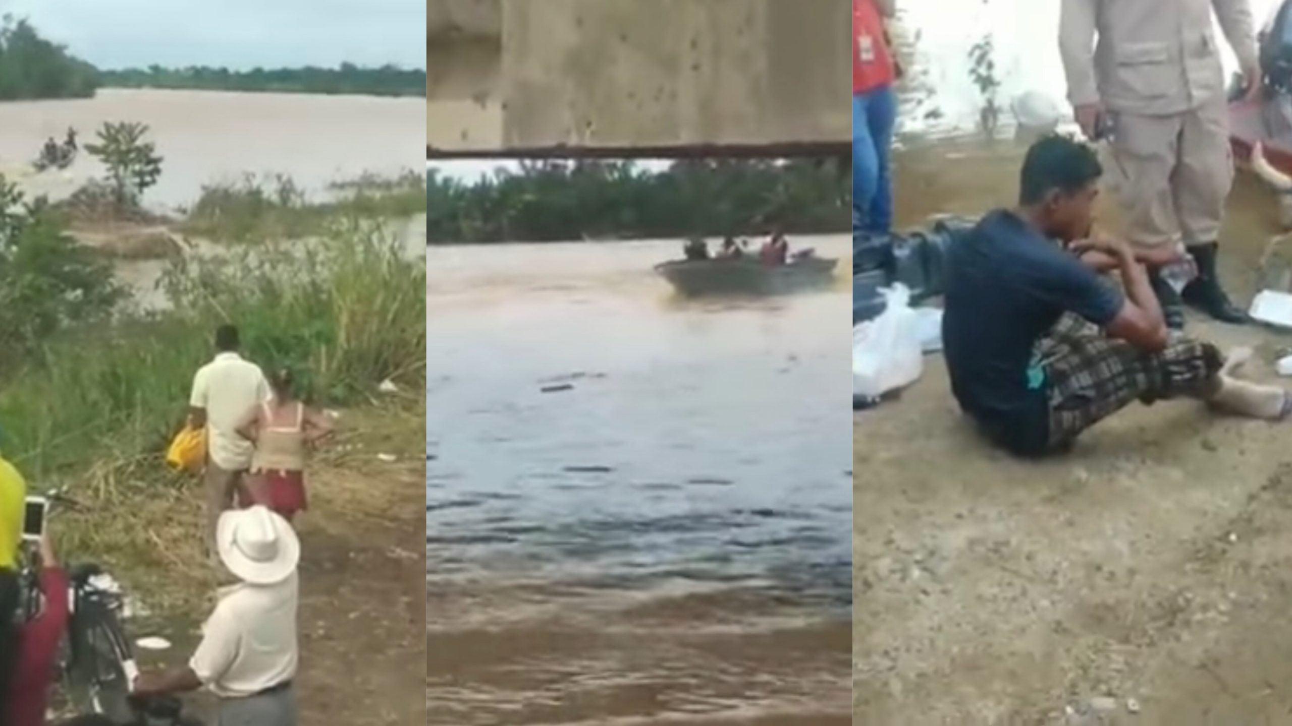joven arrastrado río Ulúa