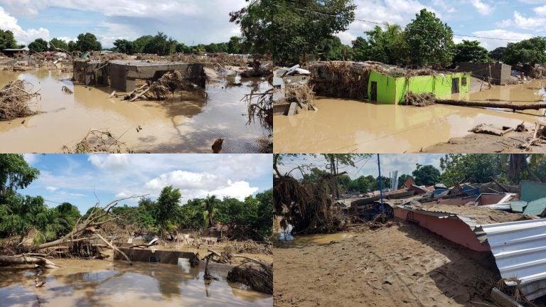 En ruinas: el sector «La Playita» se fue con las aguas del río Chamelecón