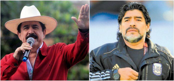 Mel Zelaya y Maradona