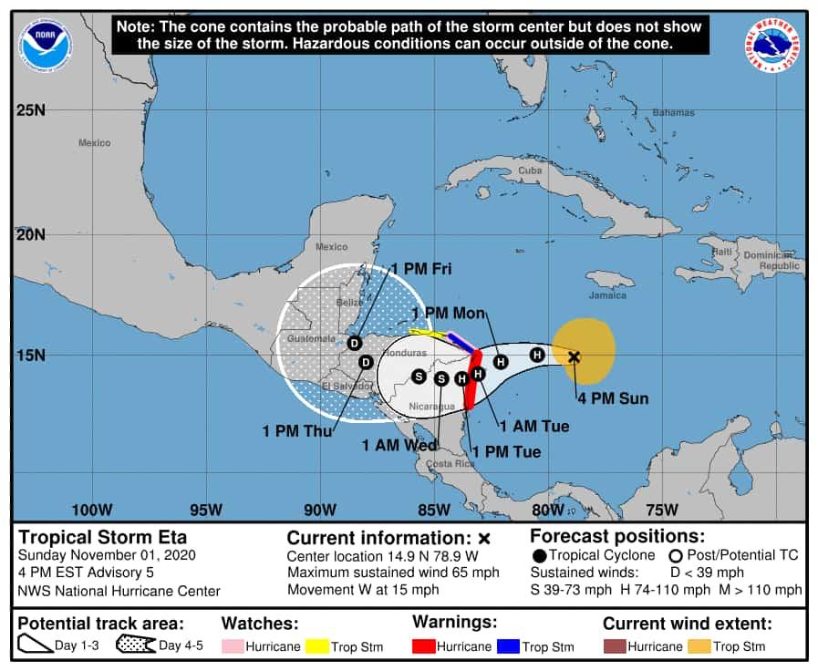 Tormenta tropical Eta