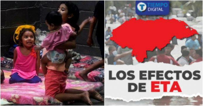 Eta Unicef niños hondureños covid-19