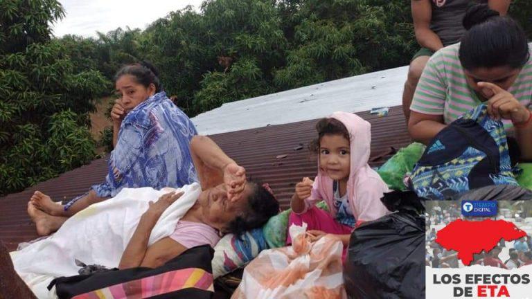 Eta   Aún hay familias atrapadas en techos de sus casas, dice la Policía