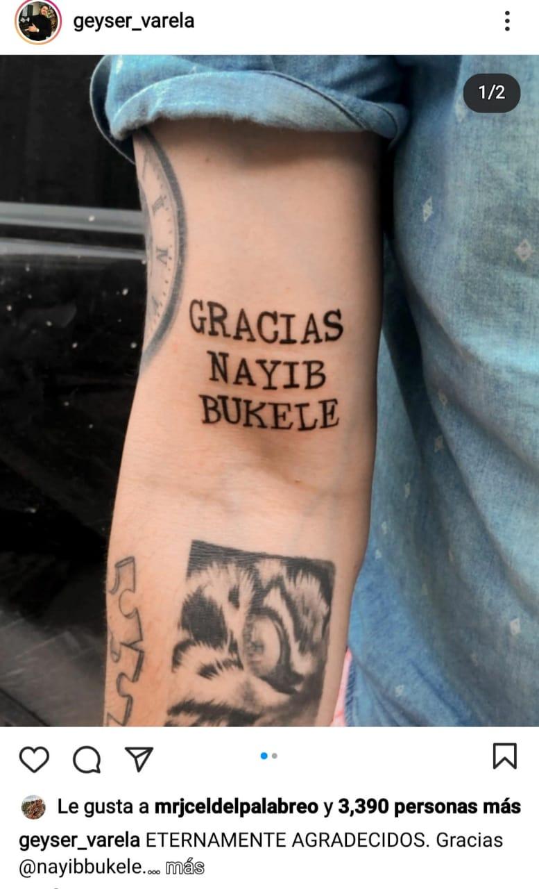 hondureño se tatúa Nayib Bukele