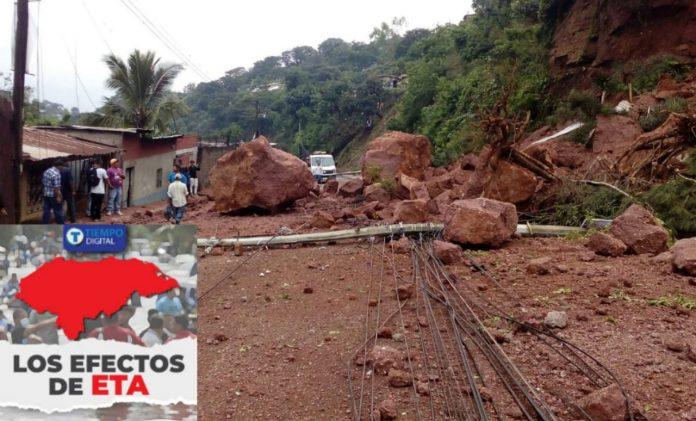 Derrumbes y deslizamientos en la capital