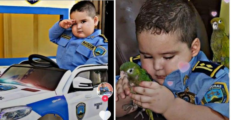 """Farándula   """"Bebé policía"""" hondureño se vuelve tendencia en TikTok"""
