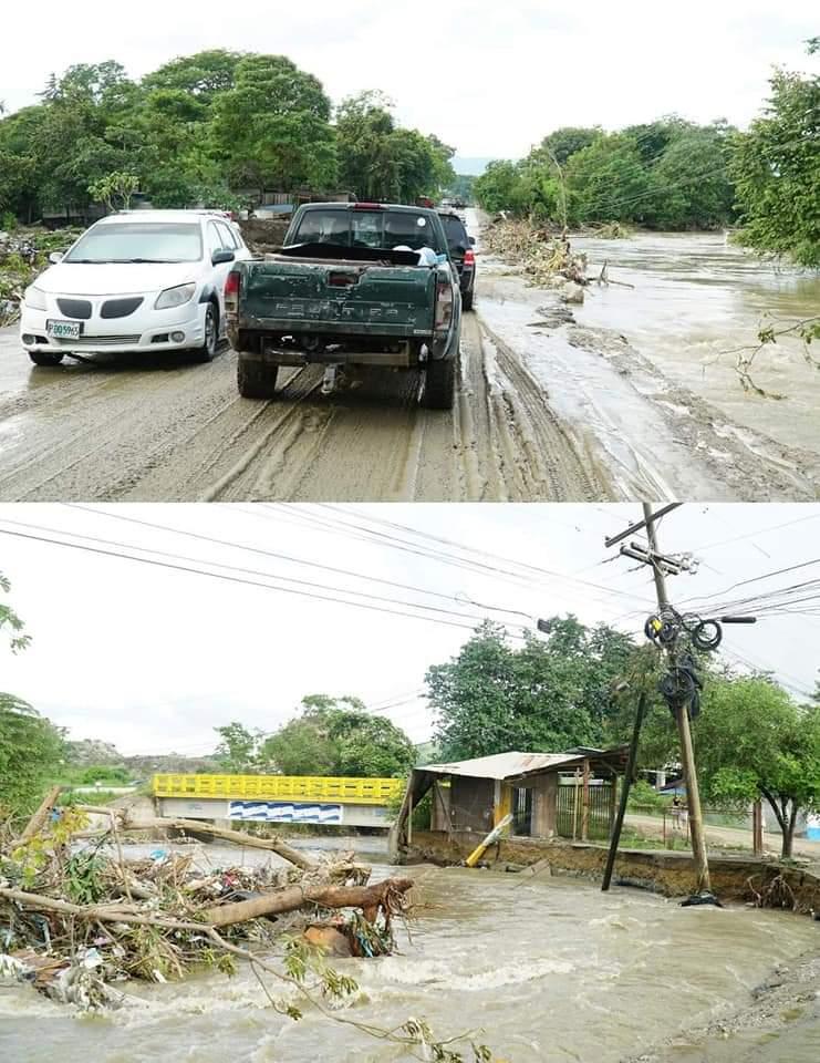 Carretera del sector Ticamaya