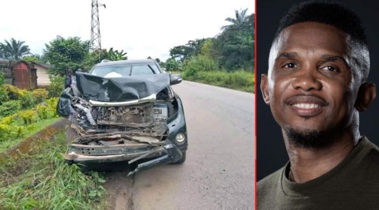 Samuel Eto'o sufre aparatoso accidente en Camerún