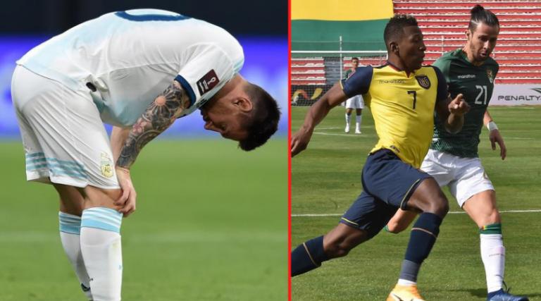 Argentina consigue amargo empate; Ecuador conquista tierras bolivianas