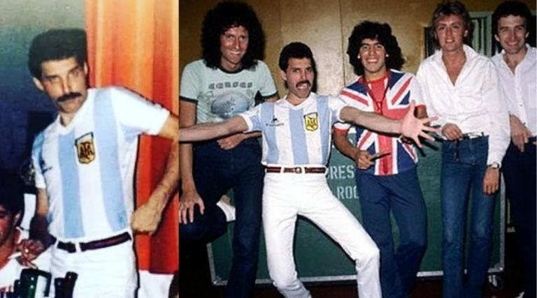 El día que Queen presentó en su escenario a Diego Maradona