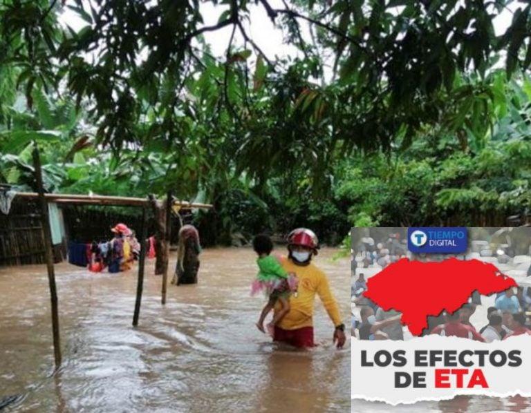 "Eta deja 180 mil personas afectadas e ""infinidad"" de pérdidas materiales en Yoro"
