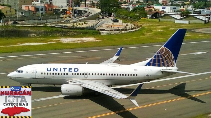 aerolínea cancela vuelos Iota Toncontín