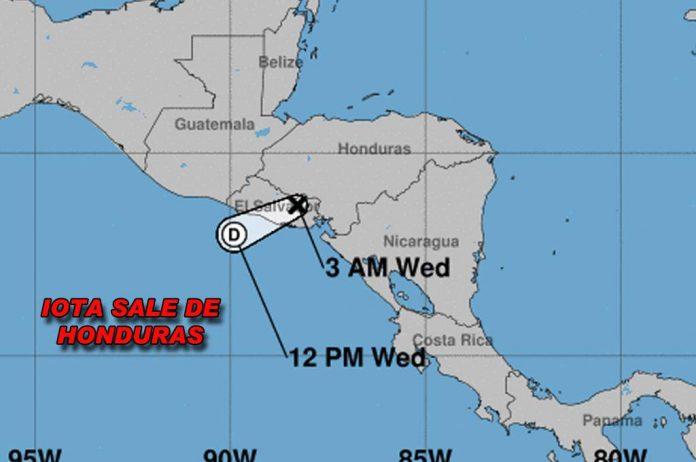 Iota Honduras depresión tropical