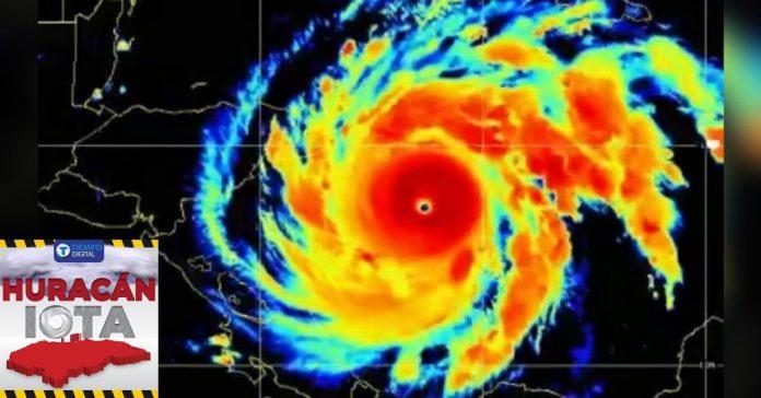 huracán Iota categoría 5