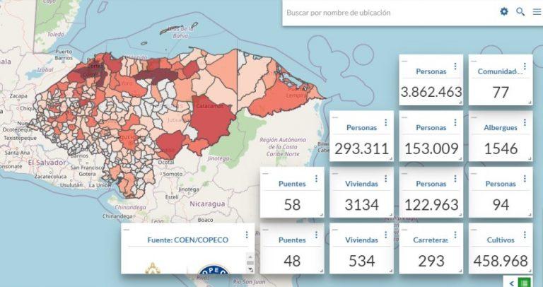 Albergues, afectados y fallecidos: plataforma brinda datos tras Eta e Iota en Honduras