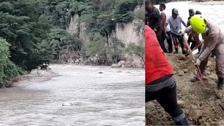 Dos hondureños fueron arrastrados por el río Lempa hasta El Salvador