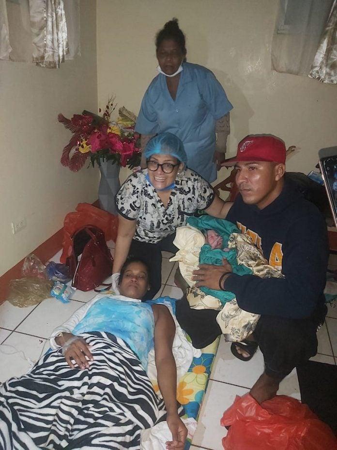 bebé huracán Iota Nicaragua