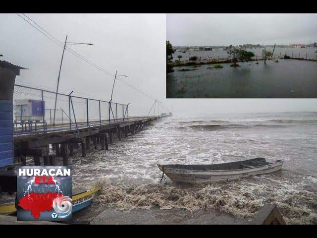 """Con """"vientos catastróficos"""" llega Eta a Nicaragua y obliga a evacuaciones masivas"""