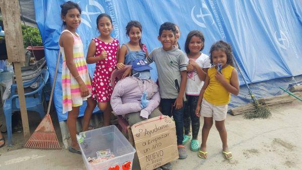 colecta comprar uvas niños