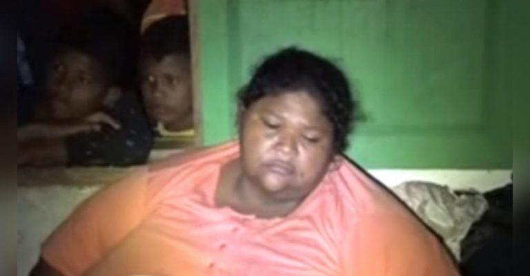 La Mosquitia: mujer con obesidad mórbida clama por auxilio en albergue
