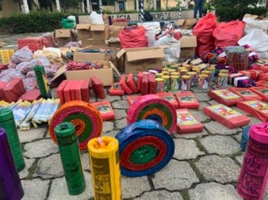 TGU: en vísperas de Navidad, decomisan más de L 200 mil en pólvora