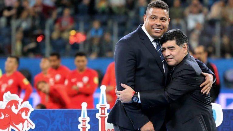 Ronaldo Nazario: «Maradona dejó un legado inolvidable en el fútbol»