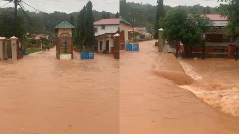 VÍDEO  Inundaciones azotan en la residencial Monte Verde de La Ceiba