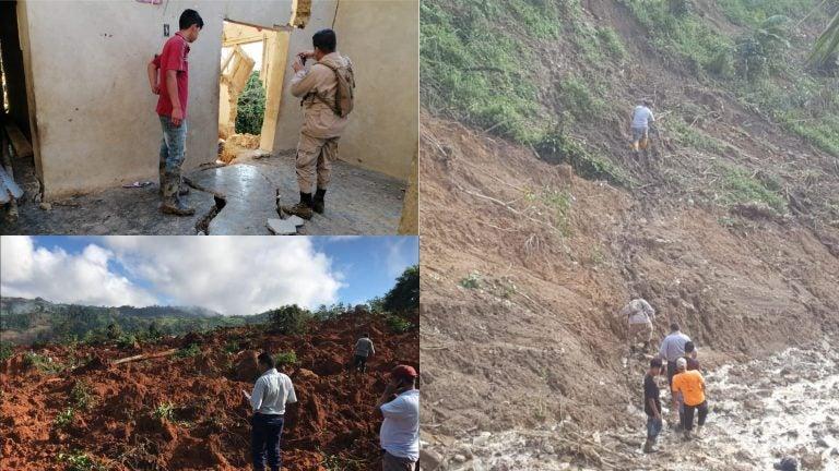 Unas 14 aldeas serían declaradas inhabitables en Santa Bárbara; derrumbes amenazan
