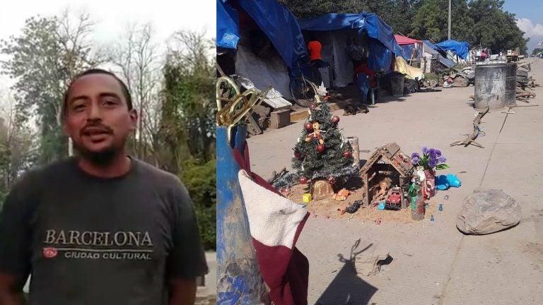 «Me lo encontré en la basura»: damnificado construyó pesebre en carretera