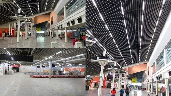 iluminado Aeropuerto Villeda Morales