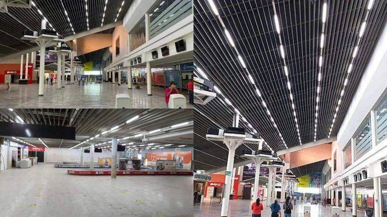 ¡Ya tiene energía eléctrica! Aeropuerto de SPS luce como antes de Eta e Iota