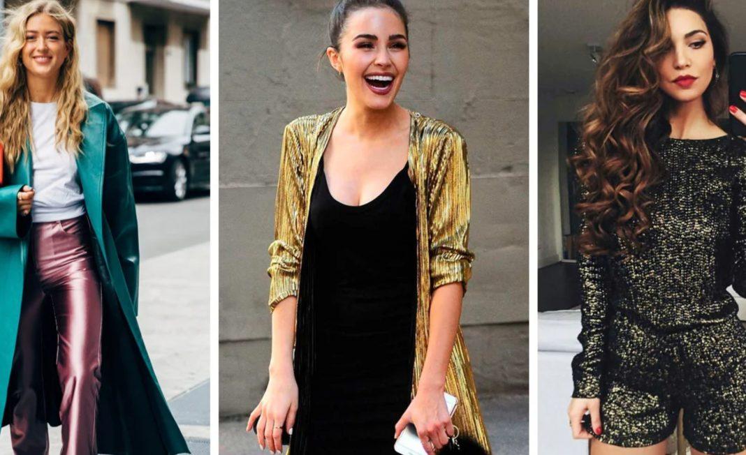 Outfits metálicos celebrar estilo
