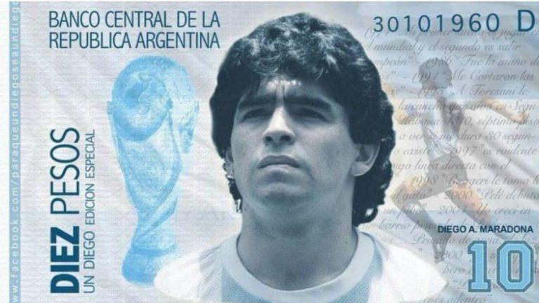 En Argentina quieren a Maradona como imagen en billetes