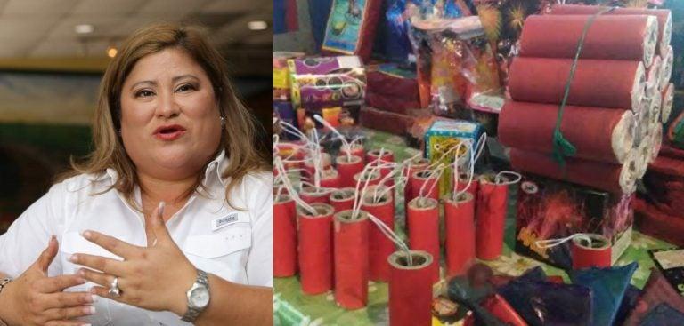 """Welsy Vásquez propone prohibir venta de cohetes """"de alta peligrosidad"""""""