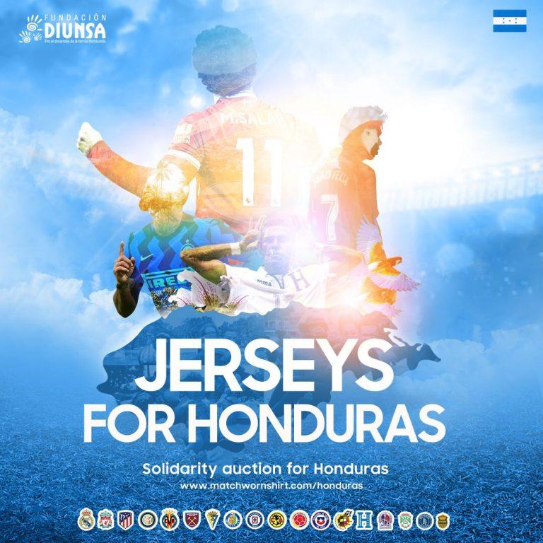 Fundación Diunsa subasta jerseys autografiadas a beneficio de afectados por Eta e Iota