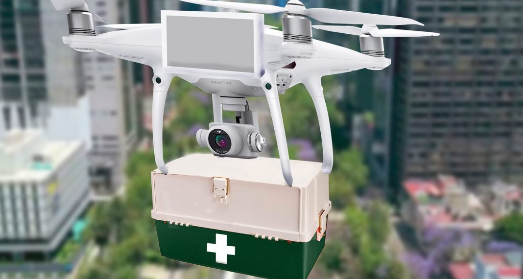 dron vacunas covid-19